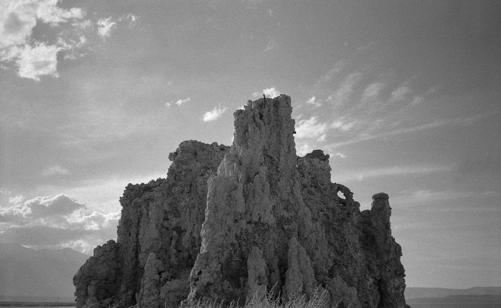 Ayden's shot of the Tufa @ Mono Lake with his Vivitar 2001 Z and Tri-X.  2016.