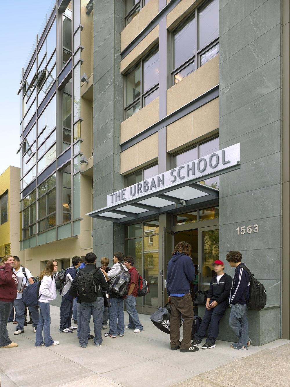 Urban High School East Entrance