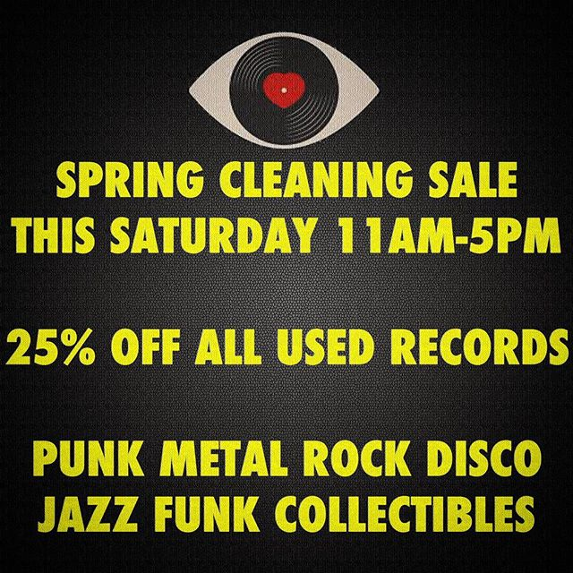 Spring Cleaning Sale Tomorrow ! Making some room for some new stuff. 25% all green sticker vintage records - #flashlightvinyl #minnesotamusic #eldiabloamps #recordsale