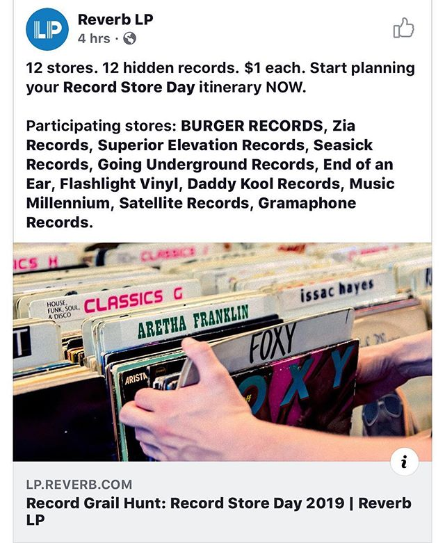 Are you ready for @recordstoredayus ? We have collaborated with @reverblp to bring Minneapolis the Holy Grail Treasure Hunt... #flashlightvinyl