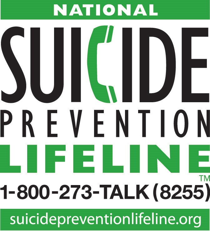 Need Help? - Click on the image to access the website for the National Suicide Prevention Lifeline
