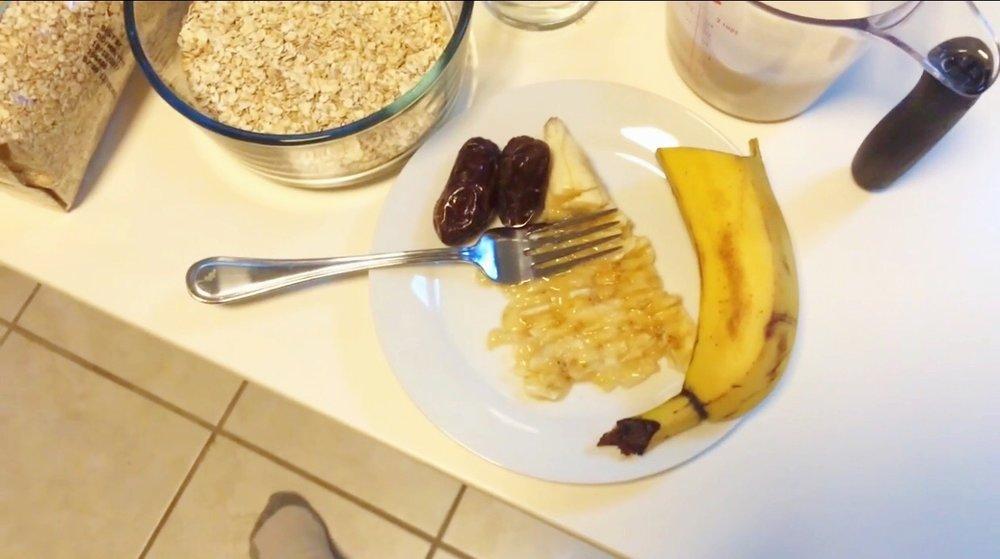 banana mashing process