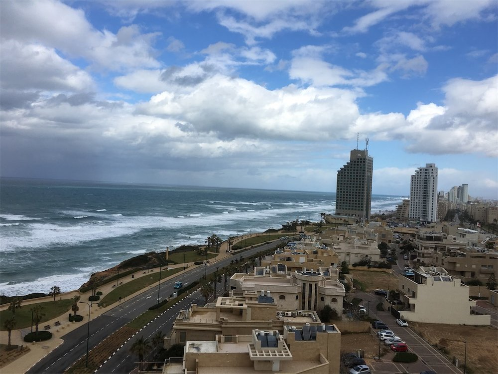 The Mediterranean Coast in Netanya (not terribly far from ancient Joppa)