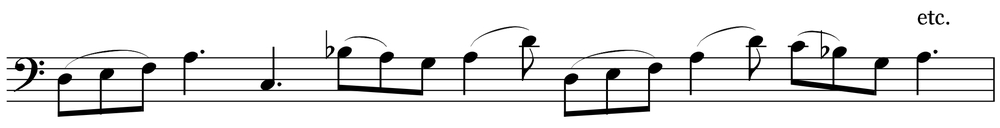 An example of a possible improvisation in groups of 3