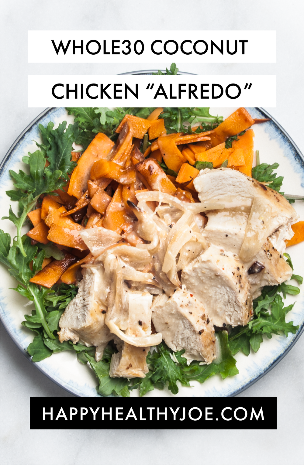 "RECIPE: Whole30/Paleo Creamy Coconut Chicken ""Alfredo"" 