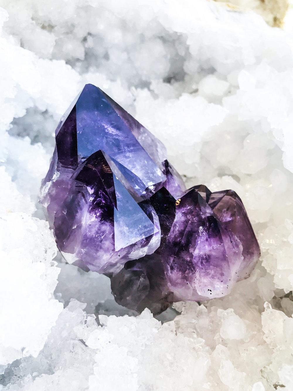 Amethyst.  Photo credit:  Jordie Caskey , taken at  Crystalarium  in Los Angeles, California.