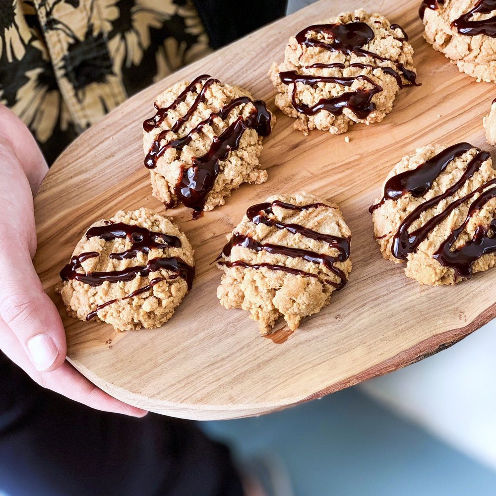 Grain-Free Maple Pecan Protein Cookies with Cassava Flour