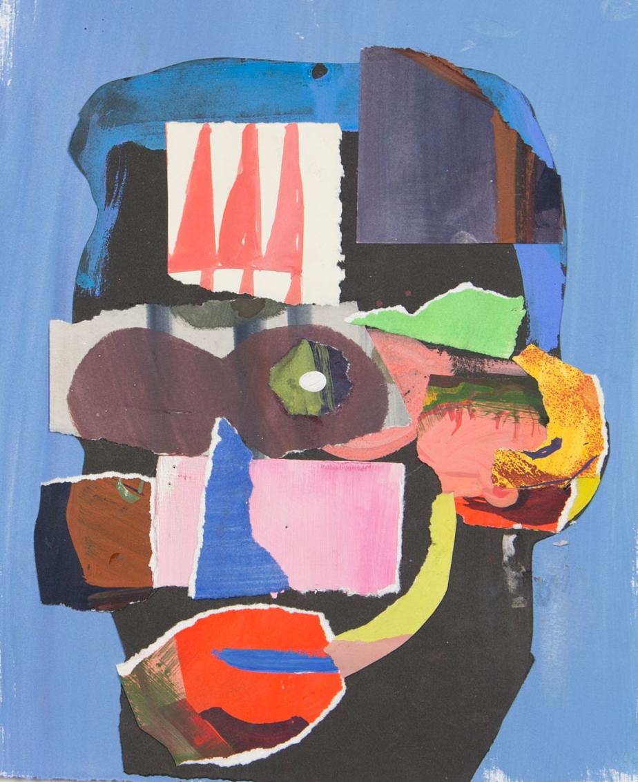Man    2015  gouache, collage