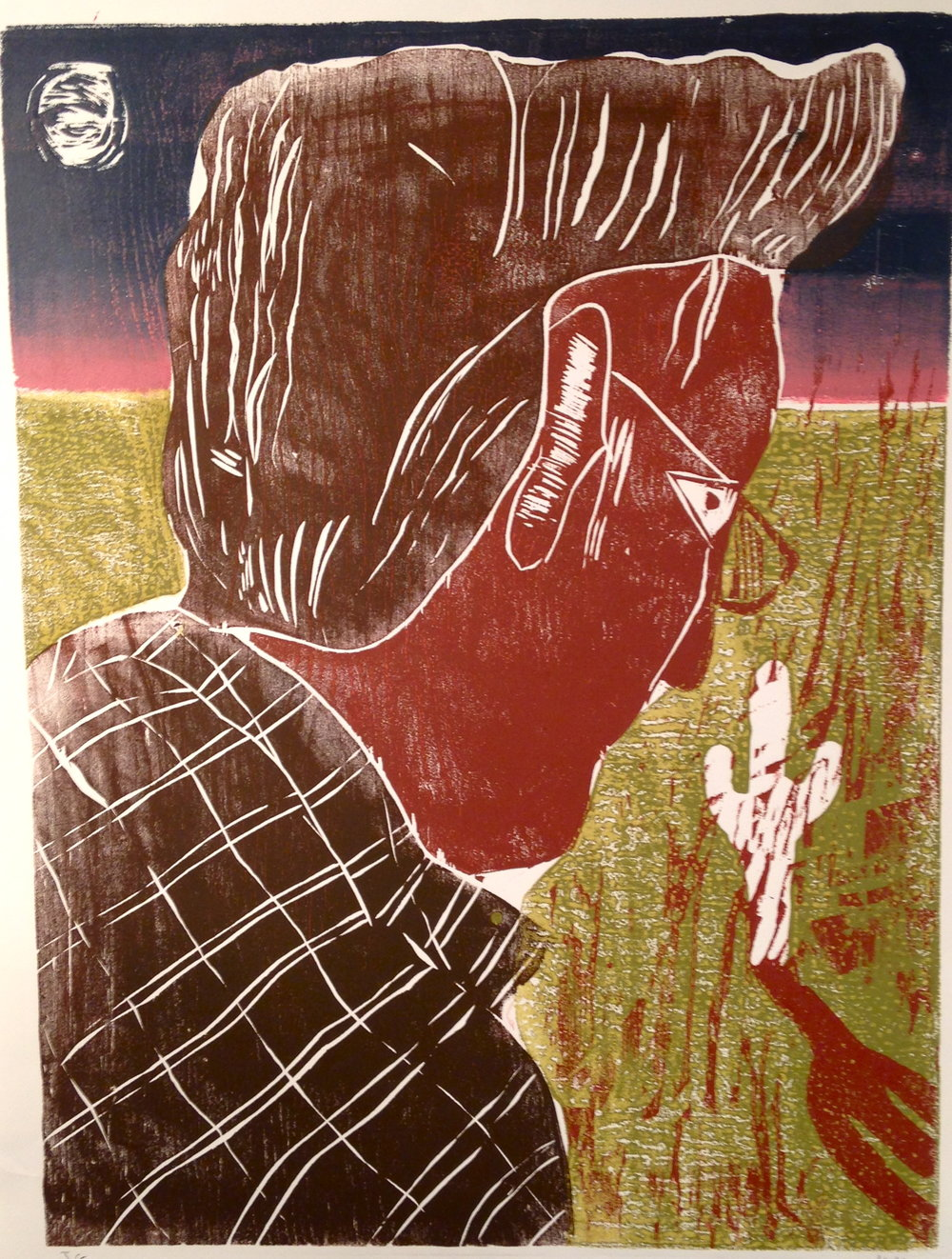Take A Look At Loneliness    2016  Woodblock print, ed. of 8