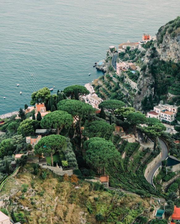 Views over Ravello and the Amalfi Coast
