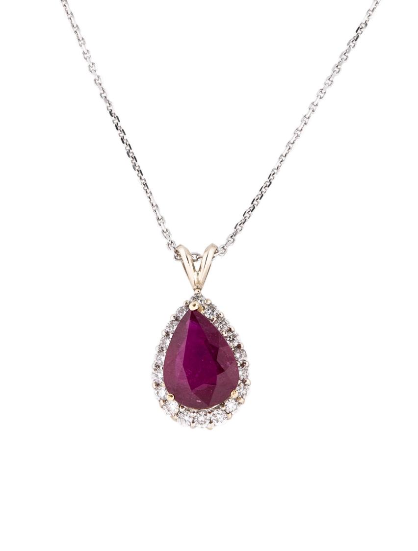 Ruby and Diamond pendant, .82 carats (diamonds) & 5.85 carats (ruby), $5,350