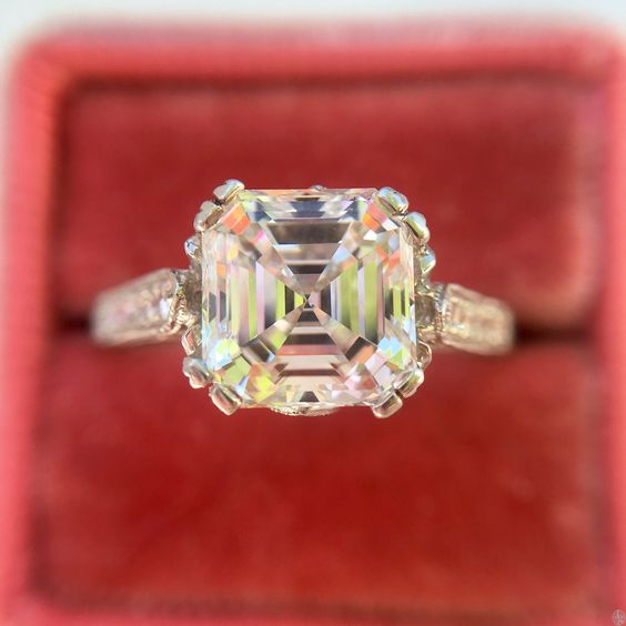 Asscher Cut Engagement Ring from Jewels By Grace