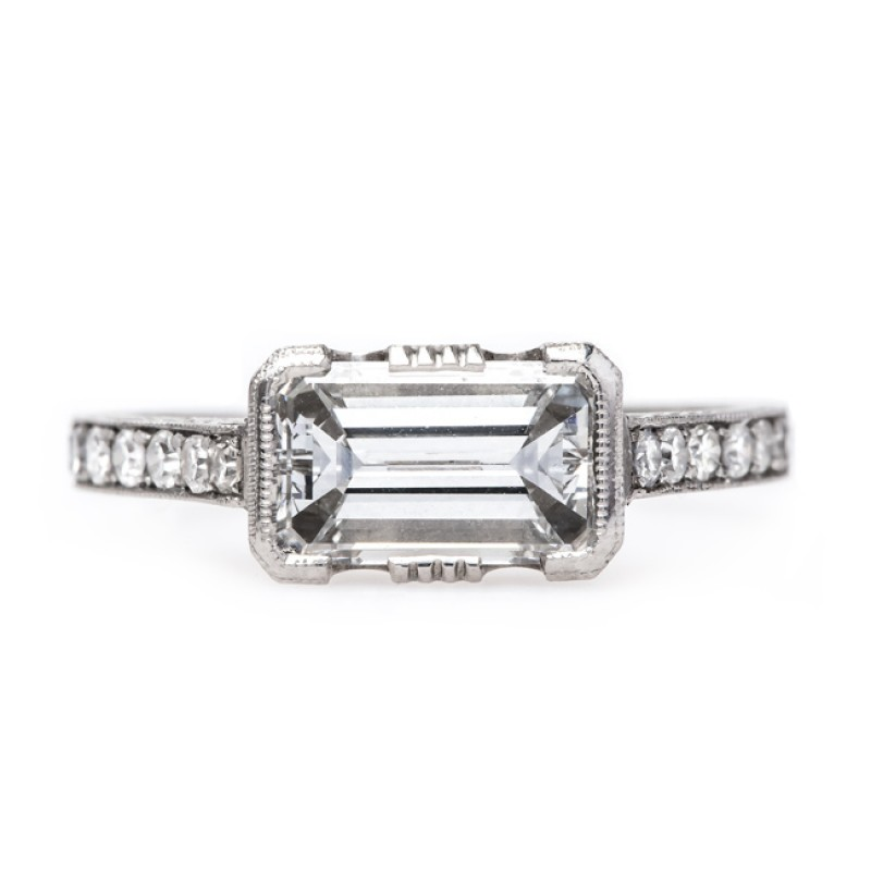Trumpet & Horn White Oaks Emerald Cut Engagement Ring $17,250