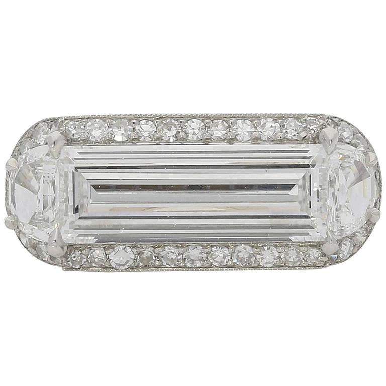 1.78ct D VS1 Baguette Cut Diamond Ring By Hancocks $45,000