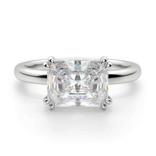 Diamond Nexus radiant cut diamond engagement ring