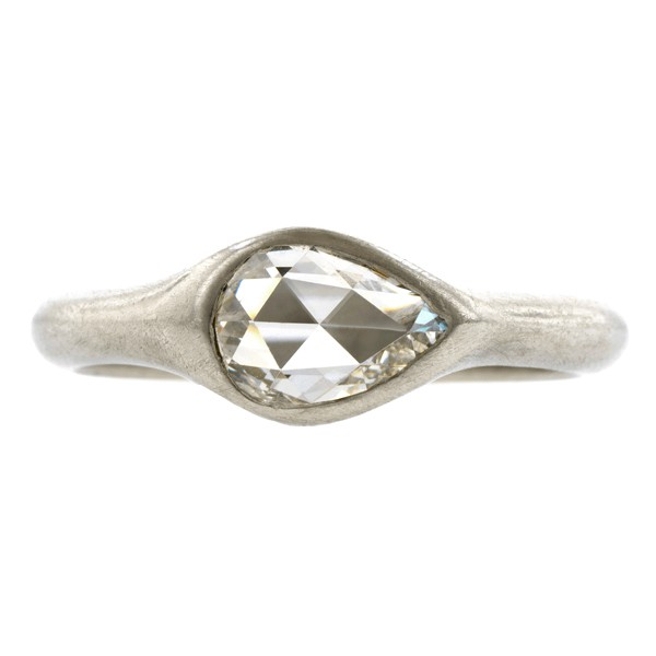 Doyle & Doyle Pear Shaped Rose Cut Solitaire Ring, 0.40ct