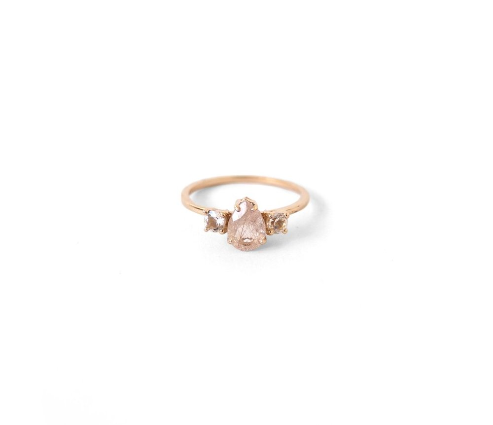 Erie Basin Pear Cut Diamond Ring (price Upon Request)  Nothing Like A Side  Set Pear Cut Diamond Is Perfectly Unexpected