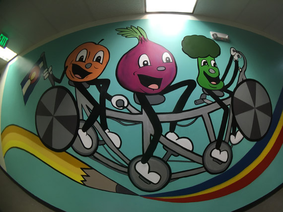 Pat-Milbery_Pat-McKinney_Montbello-School-Installation_Vegetables_Bicycles_Friends.jpg