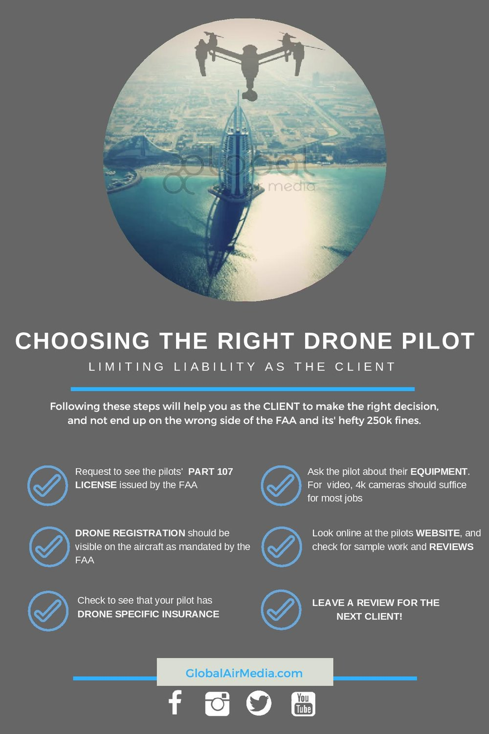 Here are some handy tips for when hiring a drone pilot