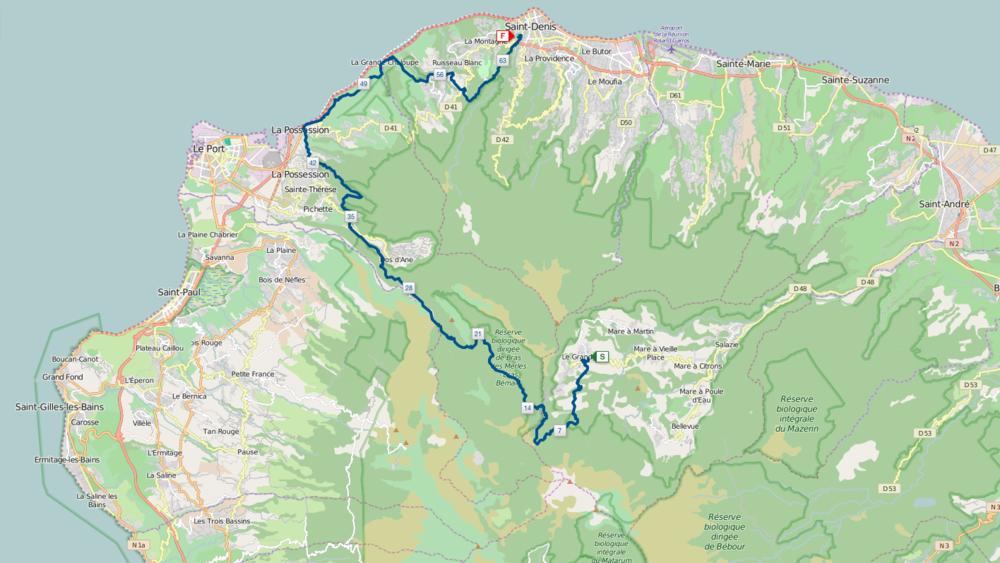 La Mascareignes 2015. 64.8 km over some of the most impressive trails I've ever been on.