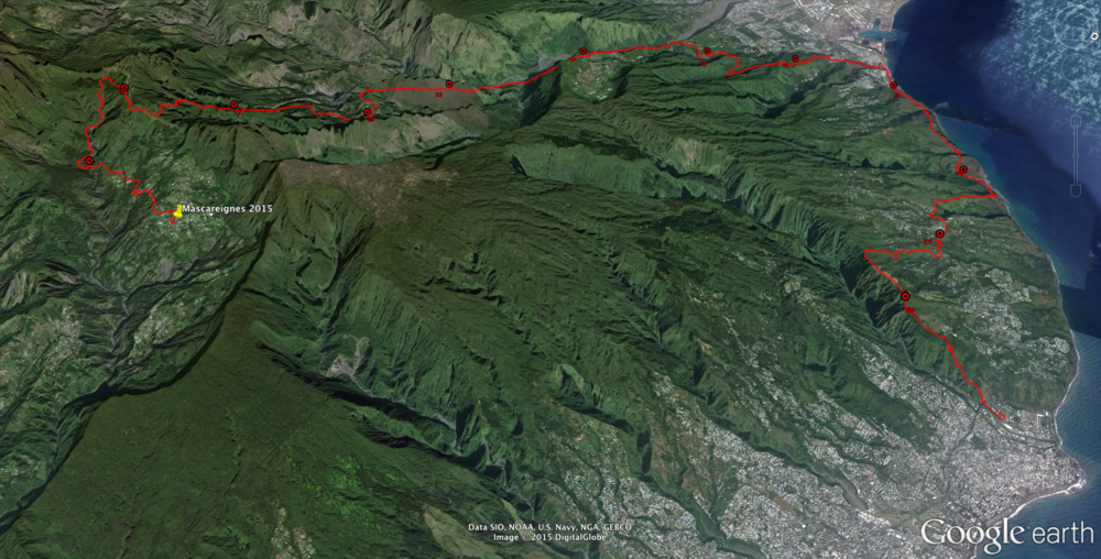 The course as viewed from the northeast.Click on the image for a larger view.