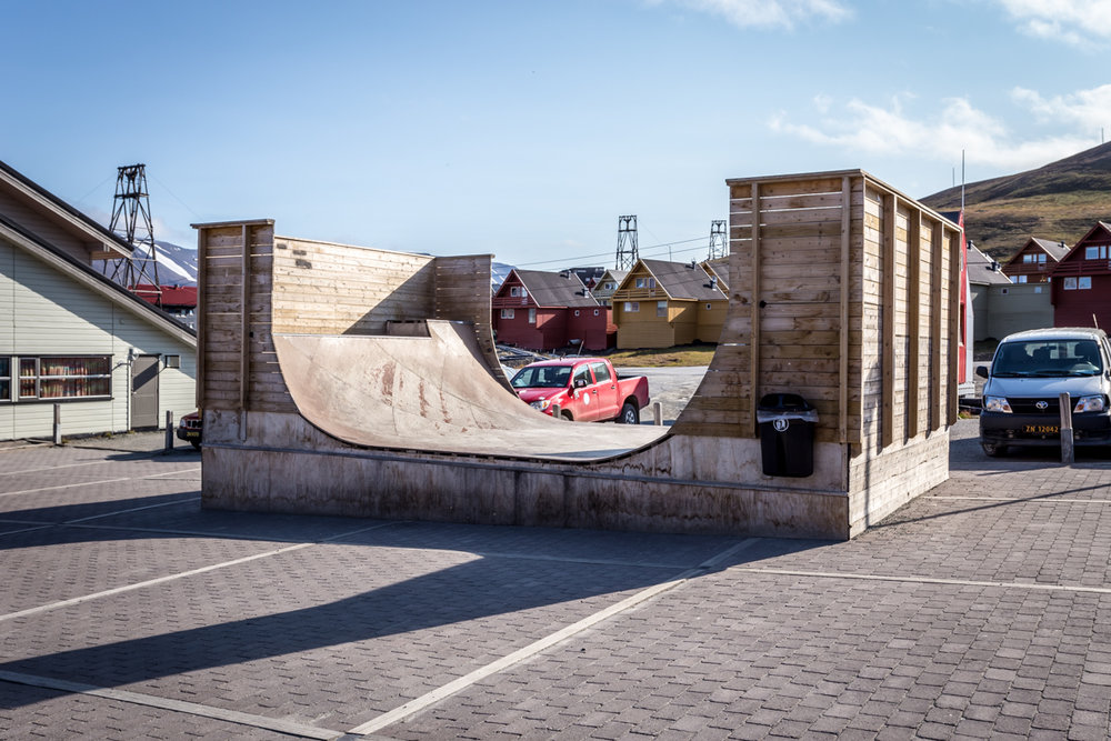 Longyearbyen even has a halfpipe downtown. Probably the northernmost in the world!