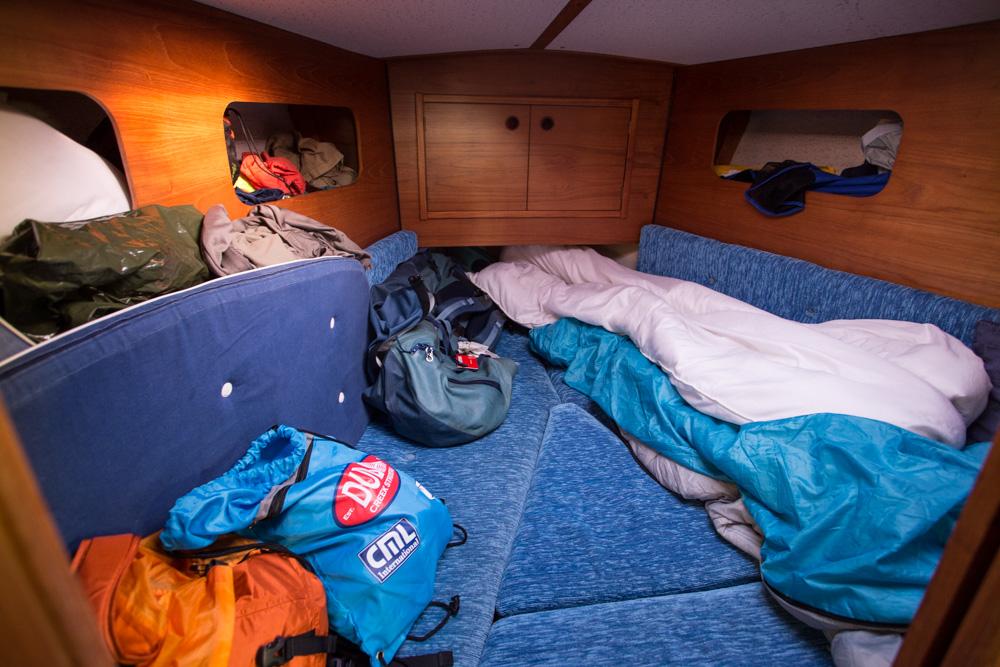 Camping at sea.