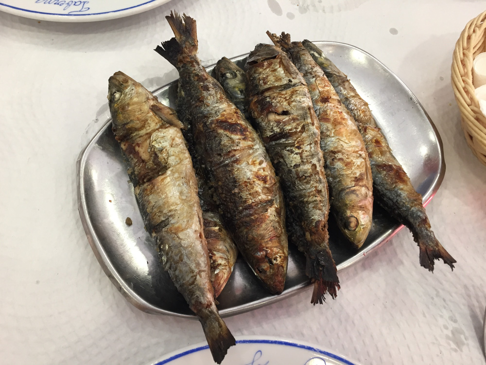 My plate of sardines.