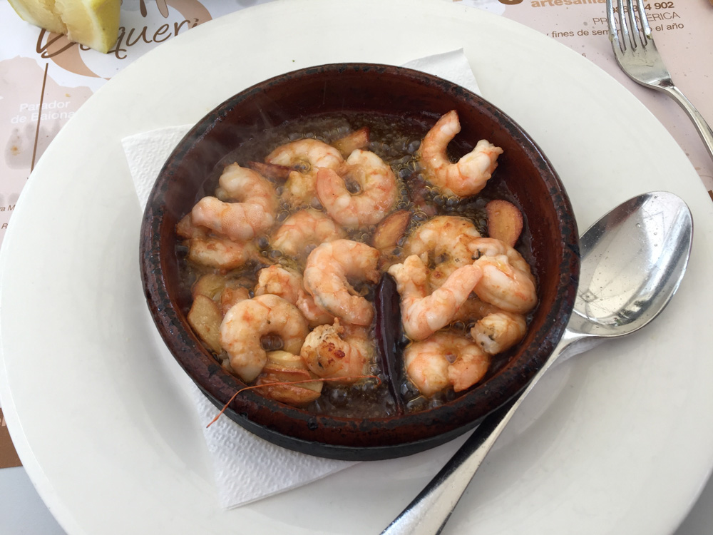 Garlic Butter Prawns. If you need a reason to visit Spain, this is it. Best I've ever had.