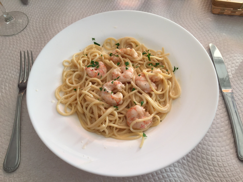 I had to have one more shrimp pasta before leaving Spain!