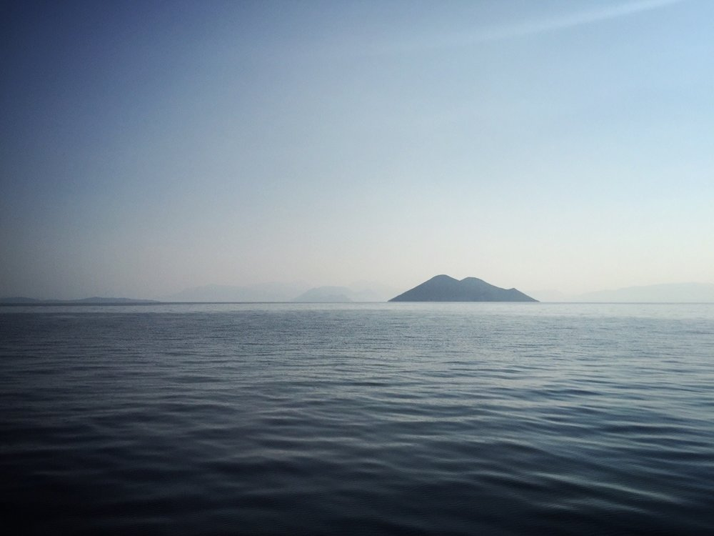 Last views of the Ionian Islands as we sail eastward to the mainland.