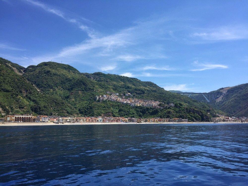 Bagnara Calabra, water as calm as a lake.