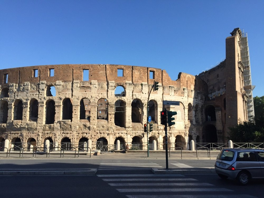 Back to the Colosseum in the morning for the tour!