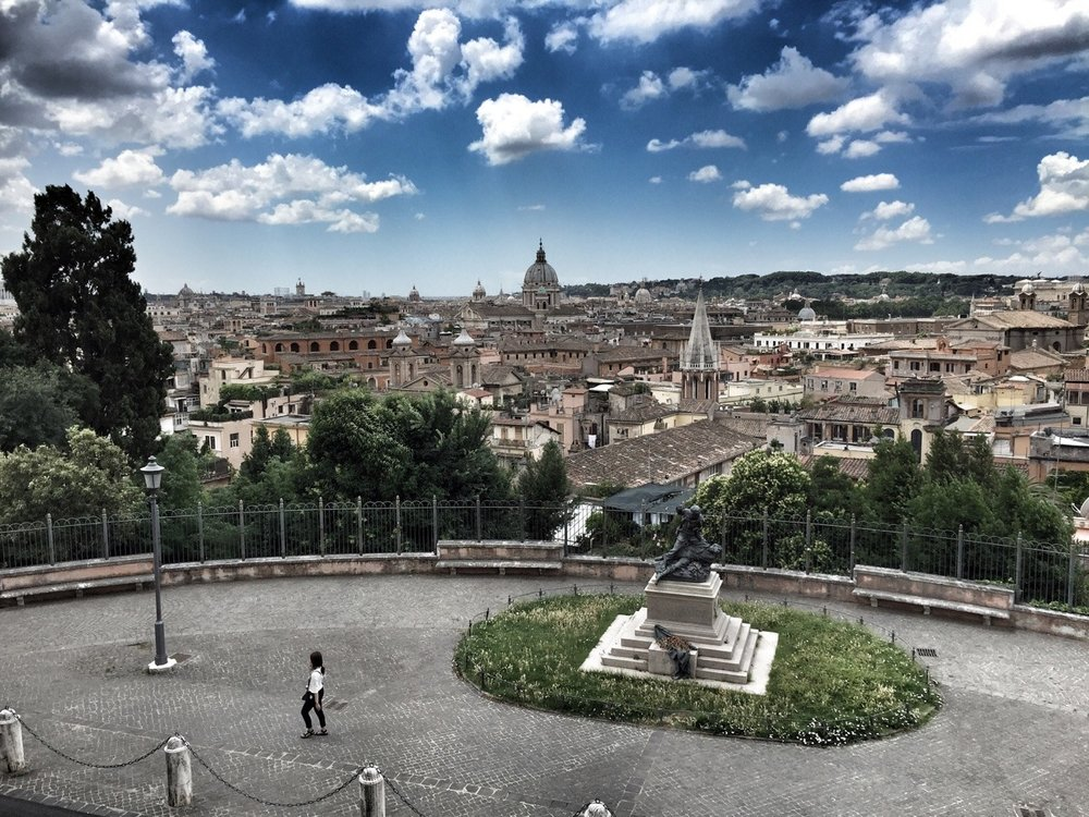 Beautiful views of Rome, in every direction.