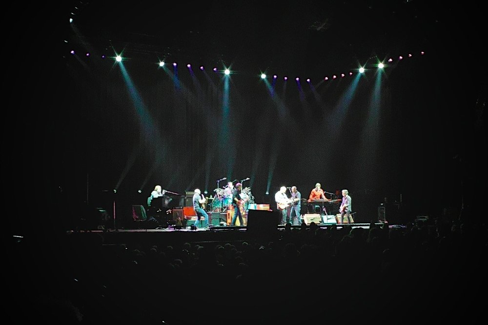 Mark Knopfler & his band     We got to see Mark Knopfler & his band perform in Portland, followed by Bob Dylan & his band.  Mark's show was great.  I wish the same could be said for Bob's.  He's just past his prime… by a few decades (sorry to say), but I'm still a fan!