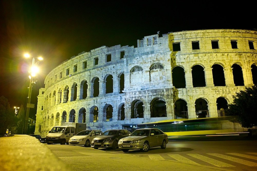 Pula Arena at Night