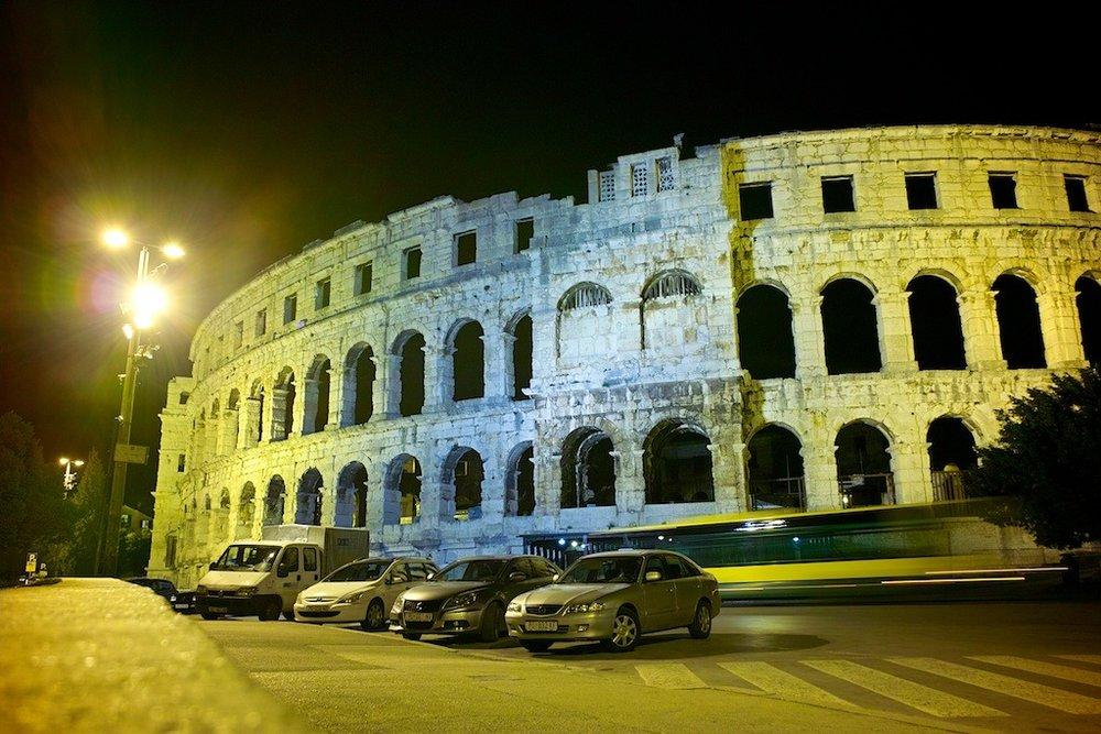 Pula Arena at Night
