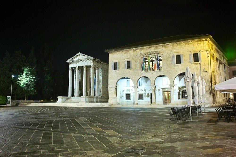 Pula's main square.