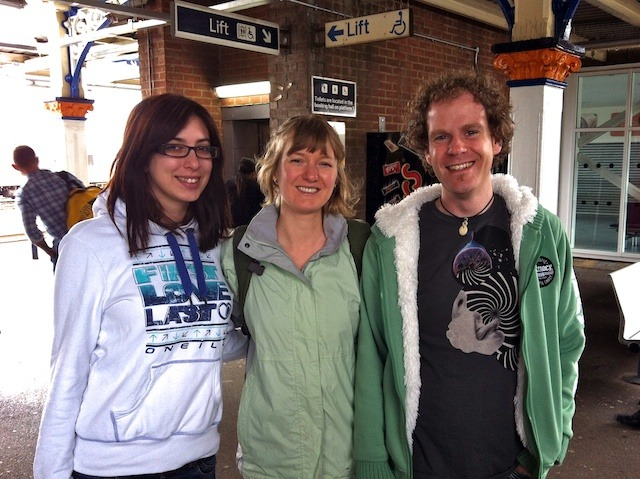 In Eastleigh, Frances with our wonderful hosts Kara & Simon!