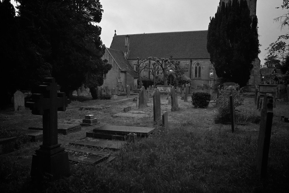 Speldhurst Church & Graveyard          One evening after dinner we went for a stroll around the neighbourhood and through the graveyard by the church.  It was a little spooky with the cloudy dusk and light rain, but a very pleasant walk.