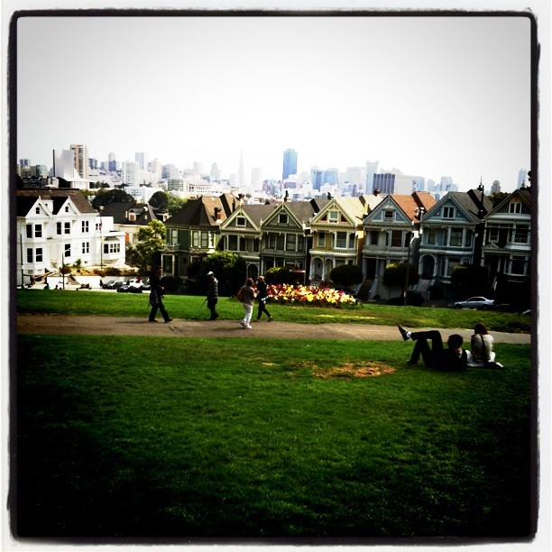 Postcard Row (Taken with  Instagram  at Painted Ladies)