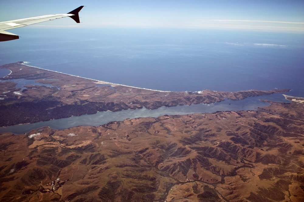 Flying to California     Point Reyes