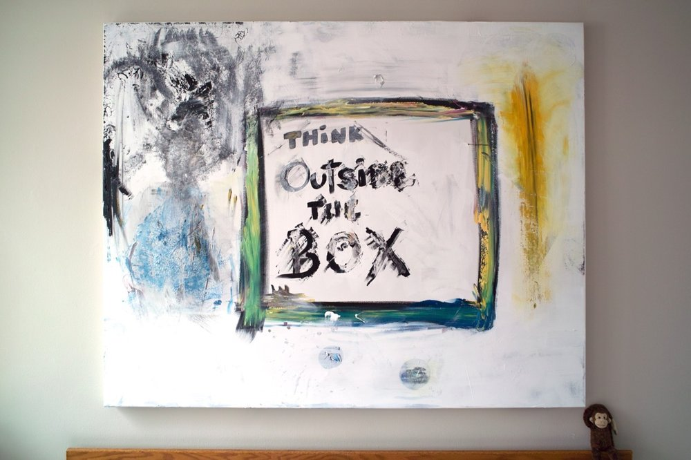 Think Outside The Box     (An update on Philippe's perpetual painting project.)   Happy Spring Everyone.