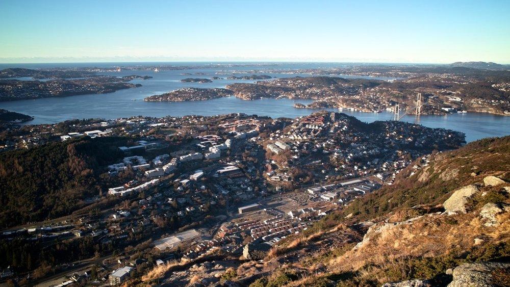 Utsikten fra Lyderhorn, Bergen