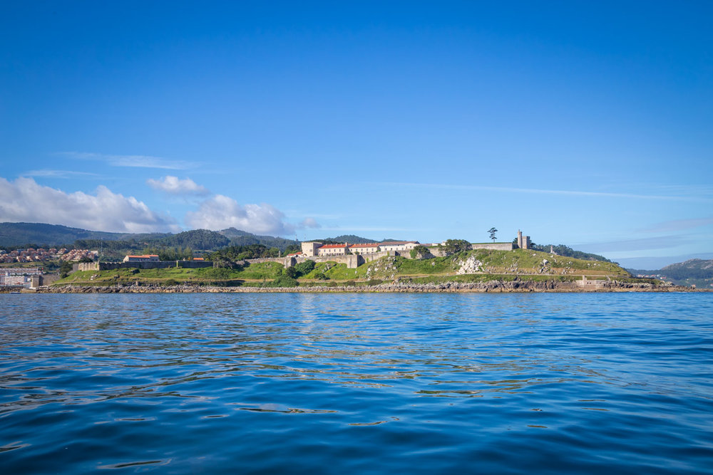Nice views of the old castle yacht club as we leave Baiona.