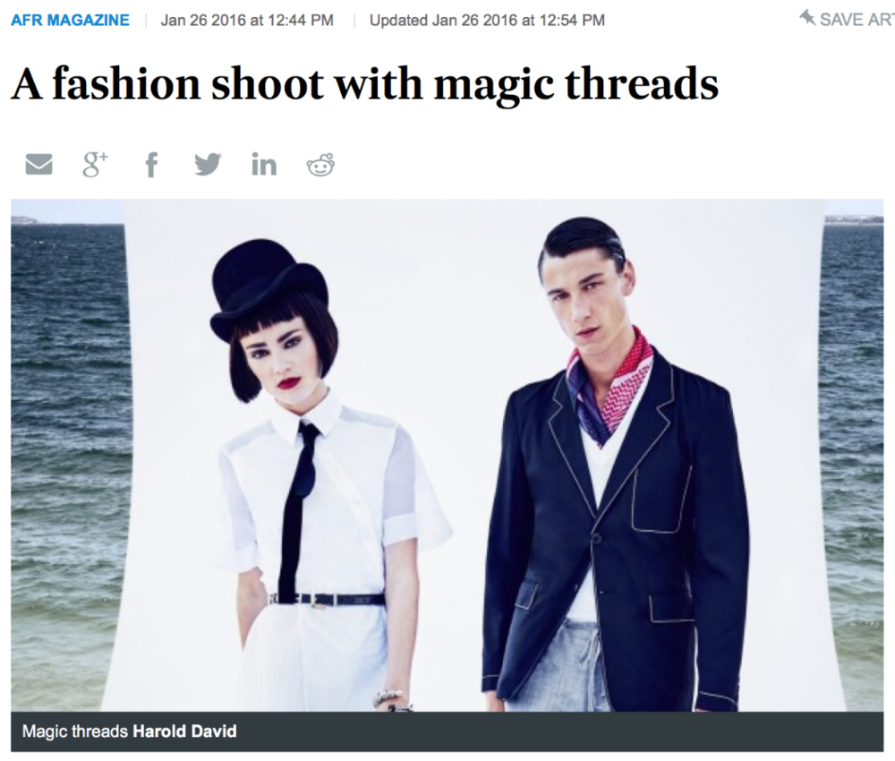 """As if by magic, the 1930s meets nautical meets surreal..."""