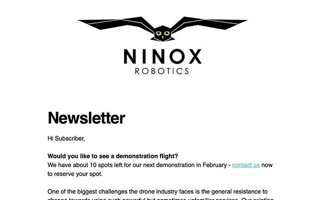 Would you like to see a demonstration flight?  Find out more in our latest newsletter: https://bit.ly/2FwKrNu  There are currently about 10 spots left for our next demonstration.  #drones #RPAS #UAV #UAS #BVLOS #longEndurance #demonstration #trials #newsletter