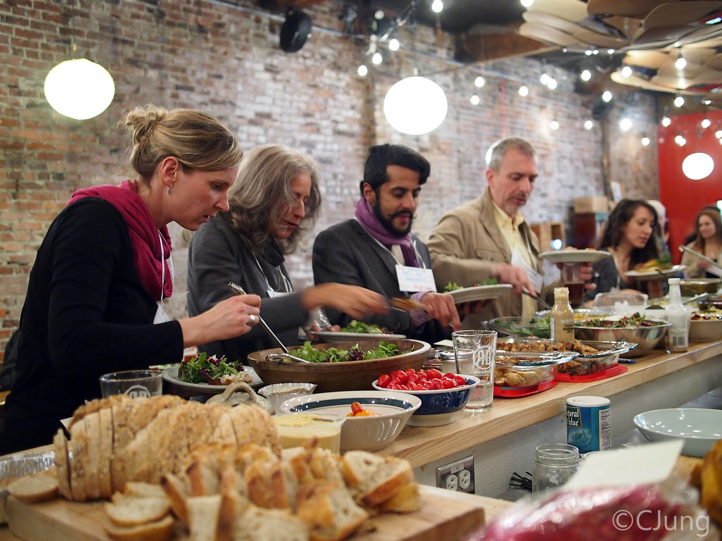 A photo from our long-table dinner co-hosted with Ashoka Canada