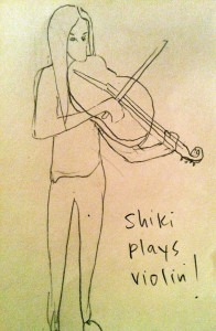 Shiki Plays the Violin