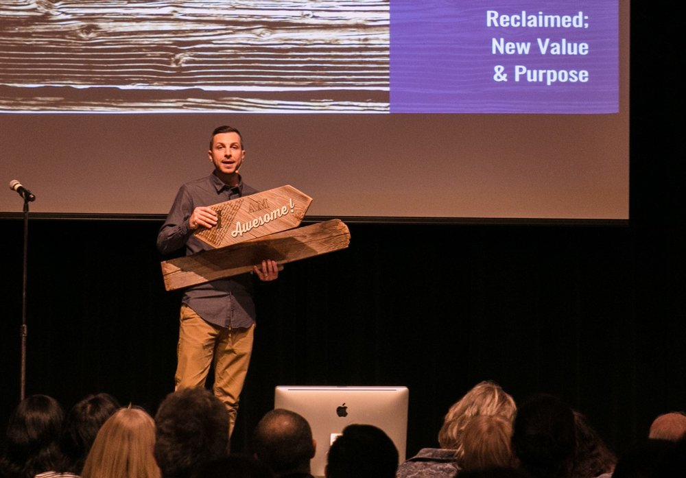 Made to Fly Design - Dave Ives' social business designs and manufactures local, reclaimed wood products. It also provides mentorship to youth facing mental and emotional challenges.
